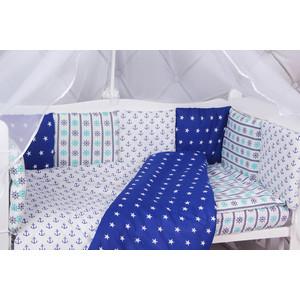 Комплект в кроватку AmaroBaby 15 предметов (3+12 подушек-бортиков) БРИЗ (бязь)