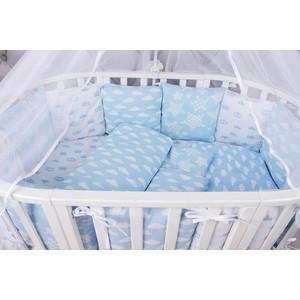 Комплект в кроватку AmaroBaby 15 предметов (3+12 подушек-бортиков) ВОЗДУШНЫЙ (бязь, голубой)