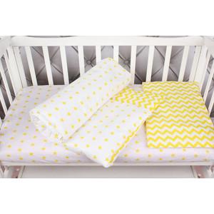 Комплект в кроватку AmaroBaby 3 предмета BABY BOOM (Желтый зигзаг, бязь)