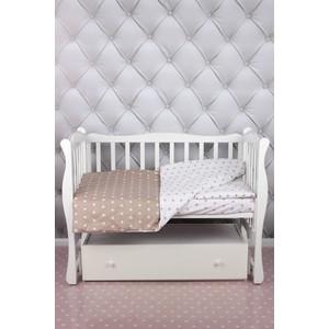 Комплект в кроватку AmaroBaby 3 предмета BABY BOOM (Звезды/коричневый, бязь)