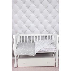 Комплект в кроватку AmaroBaby 3 предмета BABY BOOM (Короны/серый, бязь)