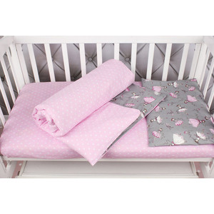 Комплект в кроватку AmaroBaby 3 предмета BABY BOOM (Мечта/серый, бязь)