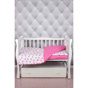 Комплект в кроватку AmaroBaby 3 предмета BABY BOOM (Мороженки/розовый, бязь)
