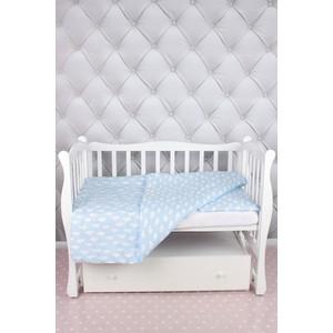 Комплект в кроватку AmaroBaby 3 предмета BABY BOOM (Облака/голубой, бязь)