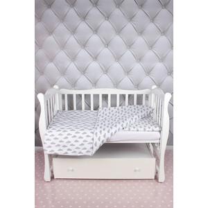Комплект в кроватку AmaroBaby 3 предмета BABY BOOM (Облака/серый, бязь)
