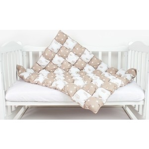 Одеяло AmaroBaby Бонбон Royal Care КОРИЧНЕВЫЙ (100% хлопок, наполнитель файбер 100% пэ и синтепон пэ, размер 90-120)