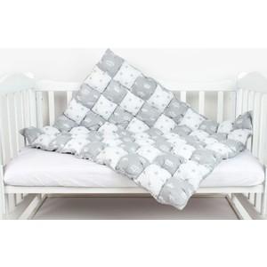 Одеяло AmaroBaby Бонбон Royal Care СЕРЫЙ (100% хлопок, наполнитель файбер 100% пэ и синтепон пэ, размер 90-120)