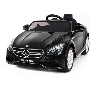 Детский электромобиль Harleybella Mercedes Benz S63 LUXURY 2.4G - Black HL169-LUX-B