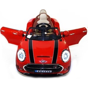 Детский электромобиль Hollicy Mini Cooper Red Luxury 12V 2.4G - SX1638 belt style car hood deco graphics decoration sticker for mini cooper r50 r52 r53 r55 r56 r57 r58 r59 r60 r61 f55 f56 f54 f60