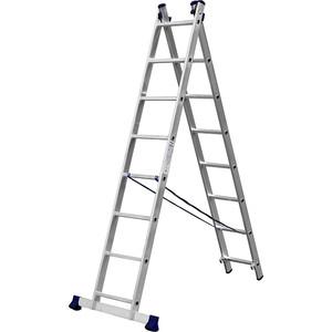 Лестница двухсекционная Сибин 8 ступеней (38823-08)