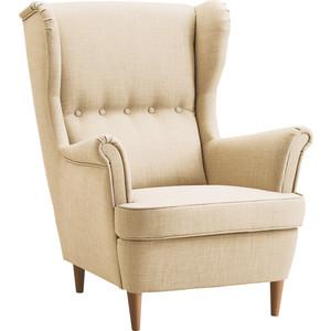 Кресло Вилора Лондон ножки бук, обивка рогожка Flax 03