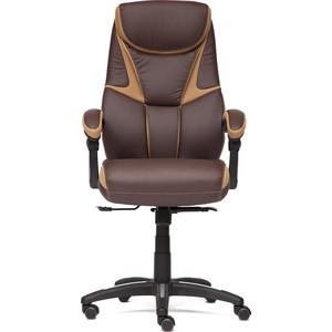 Кресло TetChair CAMBRIDGE кож/зам/ткань коричневый/бронзовый 36-36/21