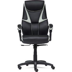 Кресло TetChair CAMBRIDGE кож/зам/ткань черный/светло-серый 36-6/14 кресло tetchair runner кож зам ткань черный жёлтый 36 6 tw27 tw 12