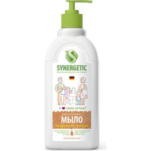 Жидкое мыло Synergetic Миндальное молочко, с дозатором, 500 мл