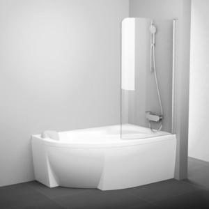 Шторка на ванну Ravak Chrome CVSK1 100 Rosa 160/170 R прозрачная, хром, правая (7QRS0C00Y1)