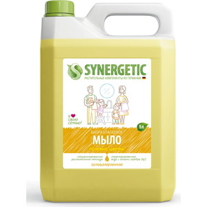 Жидкое мыло Synergetic Полевые цветы, канистра, 5 л