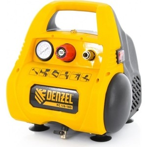 Компрессор безмасляный DENZEL РС 1/6-180 компрессор denzel рс 1 6 180 1100вт 180л мин 6л