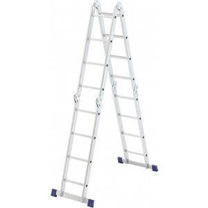Фото - Лестница-трансформер шарнирная СибрТех 4х4 (97882) лестница трансформер шарнирная профи 4 секции по 4 ступени 1 алюмет