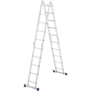 Фото - Лестница-трансформер СибрТех 4х5 шарнирная (97883) лестница трансформер шарнирная профи 4 секции по 4 ступени 1 алюмет