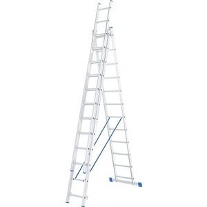Лестница трехсекционная СибрТех 12 ступеней (97822)