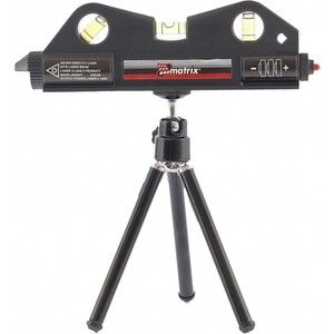 Лазерный уровень Matrix 170мм штатив 150мм 3 глазка (35020)