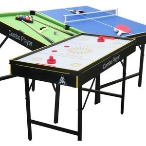 Игровой стол - трансформер DFC SMILE 3 в 1 (аэрохоккей, теннис, бильярд) теннис