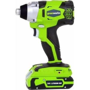 Аккумуляторный шуруповерт GreenWorks 24V (3802207)