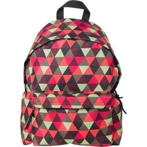 Рюкзак №1 School молодежный красно-зеленые треугольники