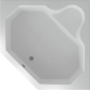 Акриловая ванна Акватек Лира угловая 148х148 см фронтальная панель, каркас, слив-перелив (LIR150-0000032)
