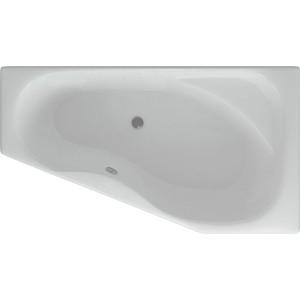 Акриловая ванна Акватек Медея 170х95 см правая, фронтальная панель, левый боковой экран, каркас, слив-перелив (MED180-0000010)