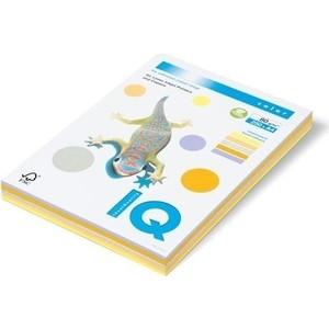 Бумага цветная IQ Color (А4, 80г, 5цв. 34, 12, 21, 22, 10 по 50л. ) пачка 250л. 133051