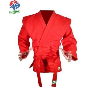 Куртка для самбо GREEN HILL JS-303-40-RD, р. 40/150 одобрено FIAS (Международной федерацией самбо) цена 2017