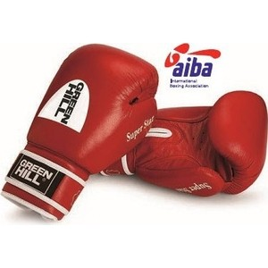 Перчатки боксерские GREEN HILL SUPER STAR BGS-1213a-10-RD
