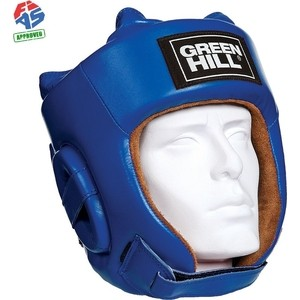 Шлем GREEN HILL FIVE STAR HGF-4013-L-BL, р. L, одобр. FIAS, нат. кожа, синий