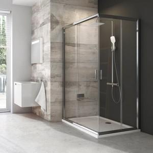 Дверь душевого уголка Ravak Blix BLRV2K 90x190 см, стекло прозрачное, профиль хром (1XV70C00Z1)
