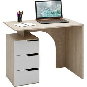 Стол письменный Мастер Нейт-1 (дуб сонома-белый) МСТ-СТН-01-СБ-16