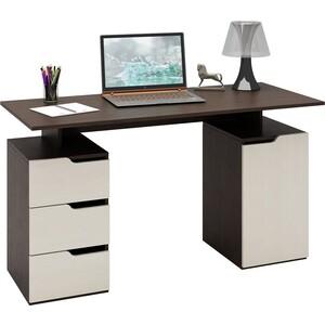Стол письменный Мастер Нейт-3 (венге-дуб молочный) МСТ-СТН-03-ВД-16 цены