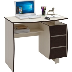 Стол письменный Мастер Экстер-5 (дуб молочный/венге) МСТ-СТЭ-05-ДМ-ВМ-16 стол письменный мастер экстер 9 венге дуб молочный мст стэ 09 вм дм 16