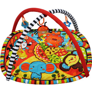Развивающий коврик Жирафики Ушастики с 6-ю развивающими игрушками, шуршалкой и пищалкой (939353)