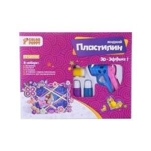 Набор для декорирования Color Puppy фоторамки с жидким пластилином, 12 цветов, пистолет (95333)