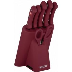 цена на Набор ножей 7 предметов Vitesse (VS-8129 Бордовый)