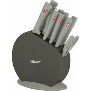 цена на Набор ножей 11 предметов Vitesse (VS-8131 Серый)