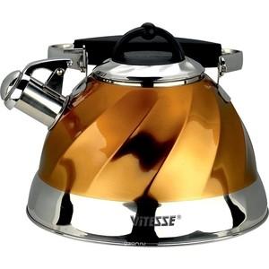 Чайник со свистком 3 л Vitesse Thelma (VS-1119 Золотой) цена