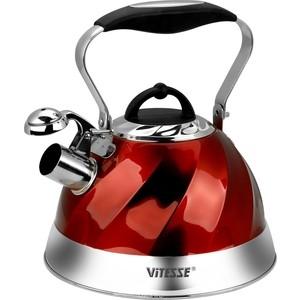Чайник со свистком 3 л Vitesse Thelma (VS-1119 Красный) все цены