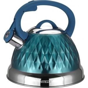 цена на Чайник со свистком 2.6 л Vitesse (VS-1122 Голубой)