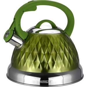 цена на Чайник со свистком 2.6 л Vitesse (VS-1122 Зеленый)