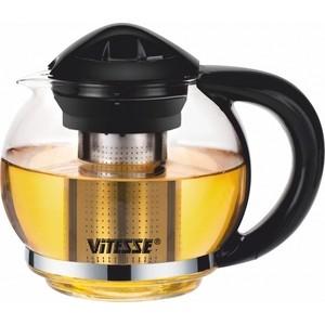 Заварочный чайник 1.3 л Vitesse (VS-4004 Черный) термопот binatone ap 4004