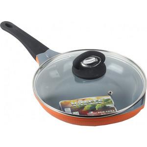 Сковорода с крышкой d 24 см Vitesse Peach (VS-2529 Оранжевый)