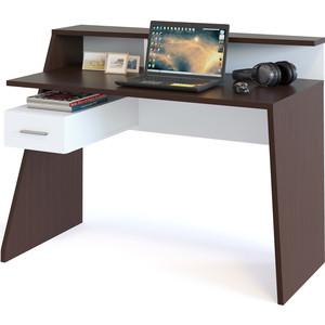 Компьютерный стол СОКОЛ КСТ-108 венге/белый сокол мебель кст 105 венге