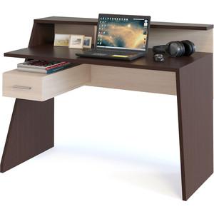 Компьютерный стол СОКОЛ КСТ-108 венге/беленый дуб сокол мебель кст 105 венге